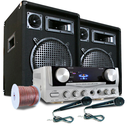 READY 2 GO Set Audio 2.1 con2 microfoni