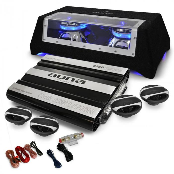 car hifi set london 4 1 systeem 6000w bass boxen. Black Bedroom Furniture Sets. Home Design Ideas