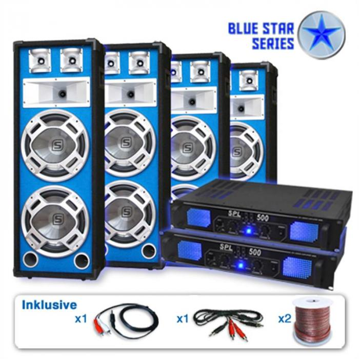 "PA Set Blue Star Series ""Bassveteran Quadro"" 3200 Watt"