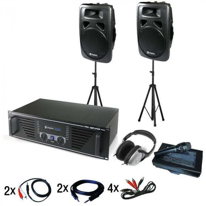 """Chicago"" DJ PA Set with Amplifier, Speakers, Mic & Headphones"