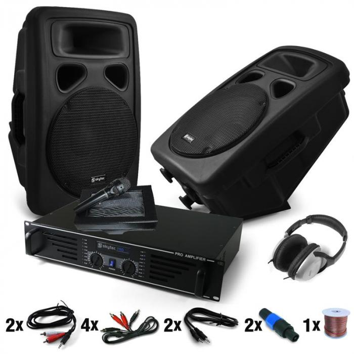 """Bass Blast Force"" set DJ amplificatore e casse"