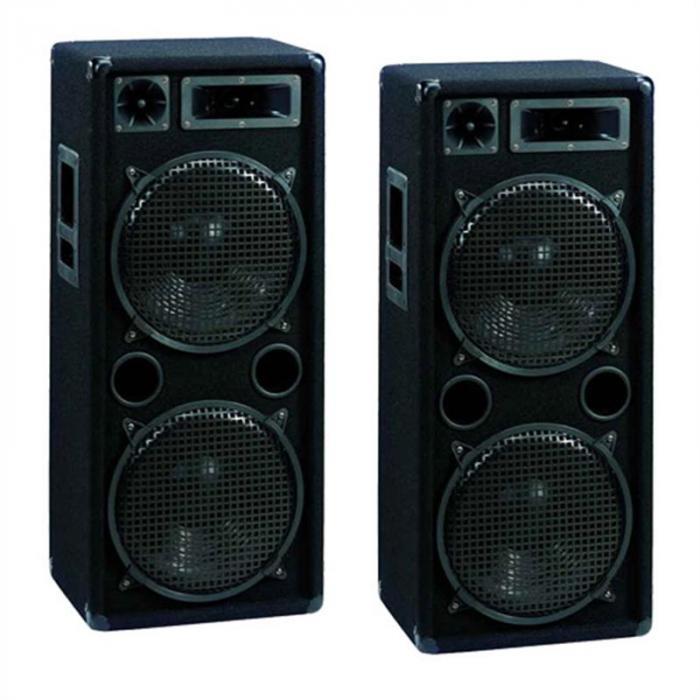 DX-2222 2 Casse 2000W DJ PS 2 Subwoofer 30cm