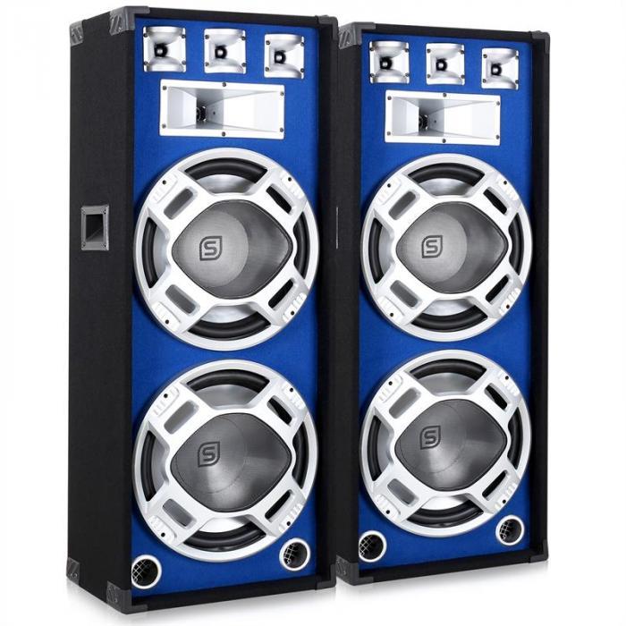 Coppia di Casse audio da 38CM e 2x1000W con luce LED