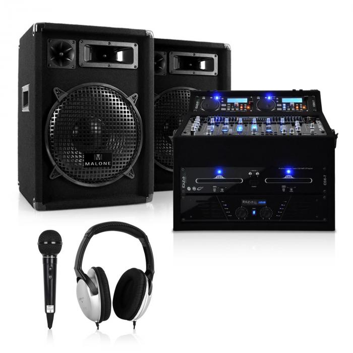 Complete DJ PA Package 'Jupiter Shock' 800W Rack case