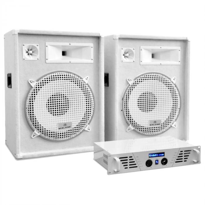 "DJ/PA Set White Star Series ""Arctic Frost"" 1600W"
