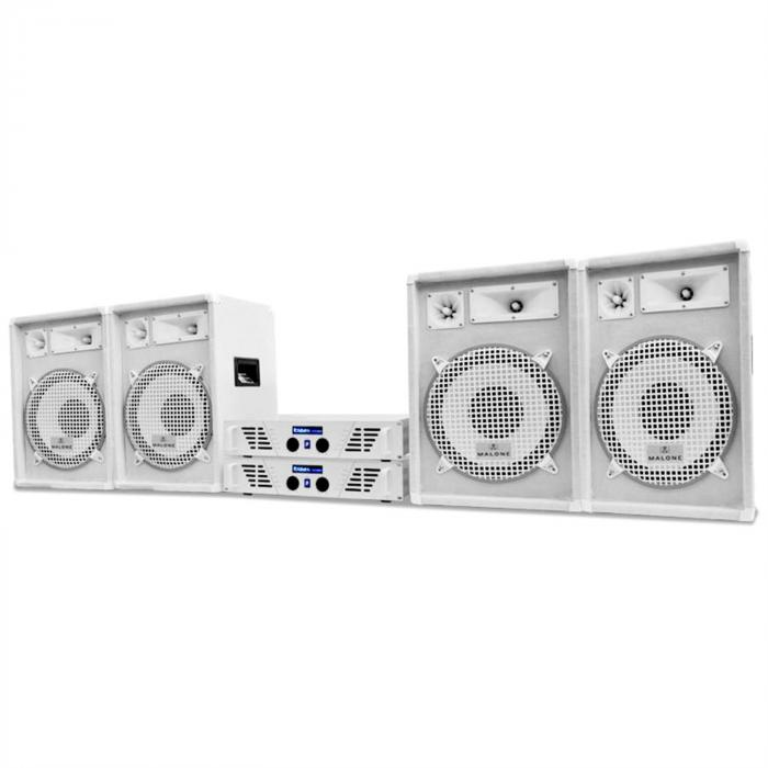 DJ PA System White Star Series 'Arctic Winter Pro' 2400W Set