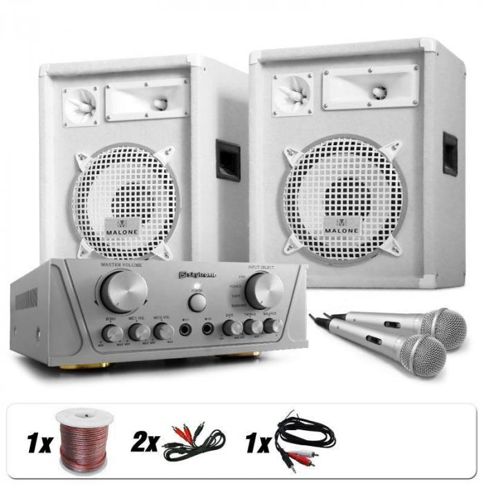 "DJ PA Set White Star Series ""Grönland Deluxe"" 800 W"