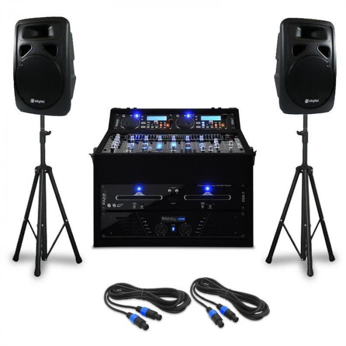 DJ PA Set 'Punch Line' 300 People 1200W Mixer USB