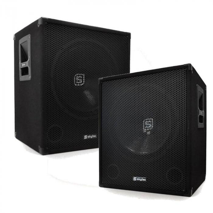 smwa18 paar dj pa 46cm aktiv subwoofer box 1000w. Black Bedroom Furniture Sets. Home Design Ideas