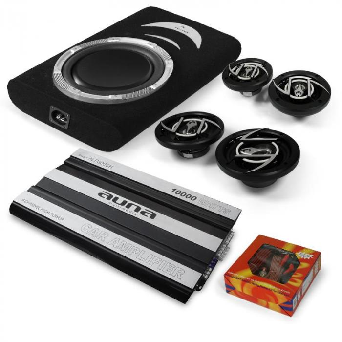 "4.1 ""Suzuka"" HiFi In Car Audio Amplifier Speaker Subwoofer Set"