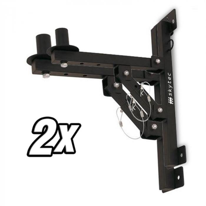 Wall Mounting PA Hifi Speaker Brackets - 50kg Load