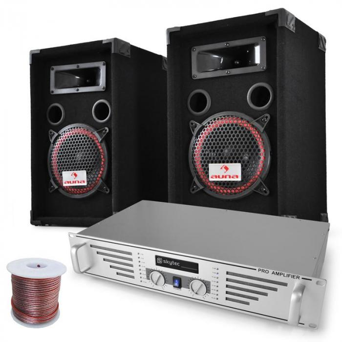 DJ PA System 'Funky Breakbeats' Amplifier Speaker Set