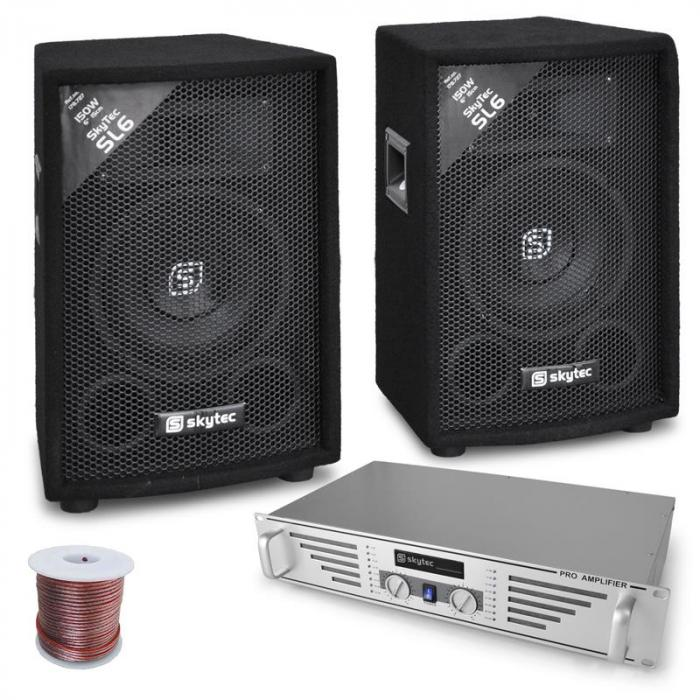 'DJ Rookie' Set 800W PA Amplifier & Speaker System