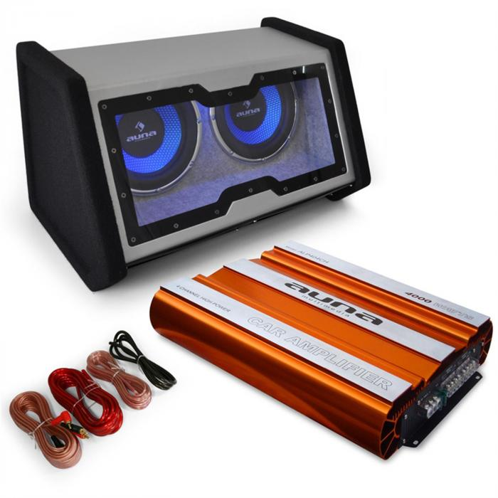 "Car Hifi Set ""Bassophant"" 0.1 set subwoofer amplificatore"