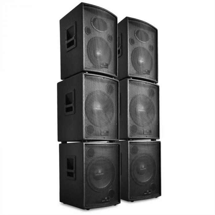 "Auna ""Pharos"" Professional DJ PA Active Speaker Set 6 parts 7200W"