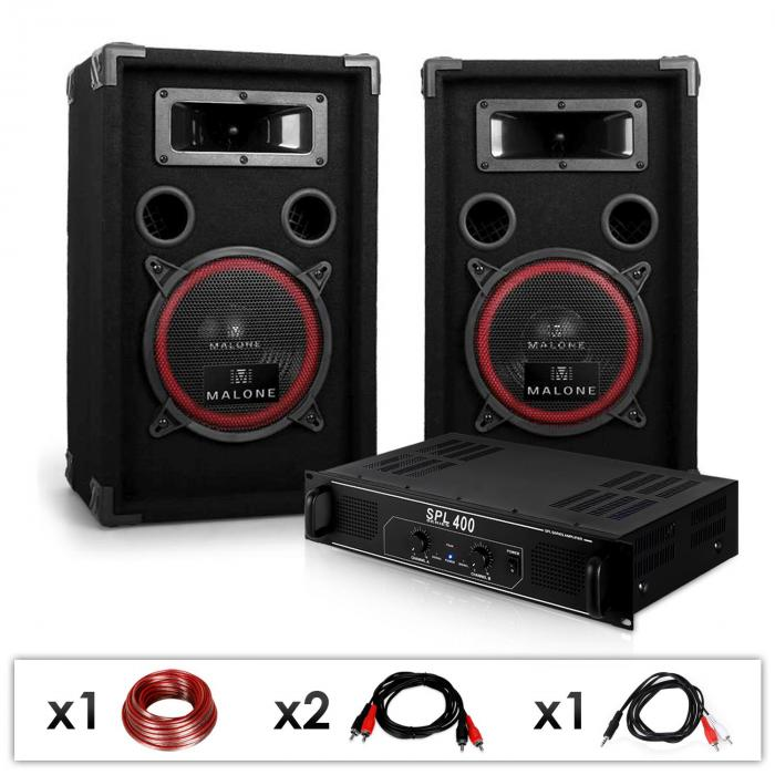 DJ PA System 'DJ 12' Skytec Amplifier & Speaker Package