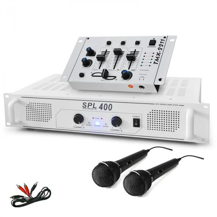 """Electronic-Star Zestaw DJ """"DJ-94"""" wzmacniacz PA mikser DJ mikrofon 1200W"""