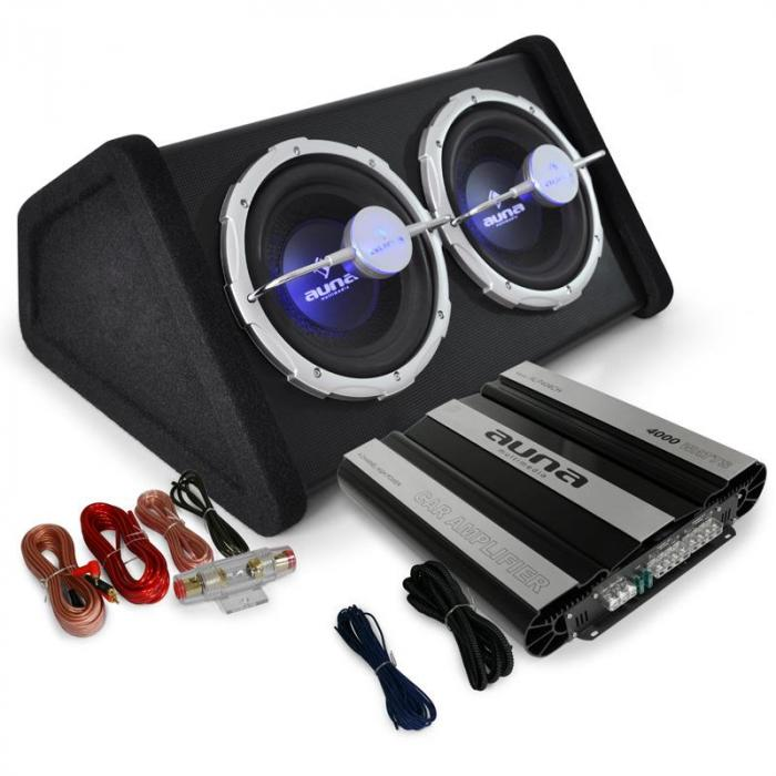 Black Line 160 Set Car HiFi 0.1 4000W doppio sub