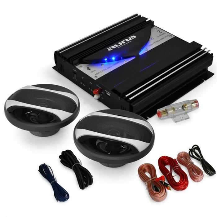 Black Line 200 Set car HiFi 2.0 1400W casse a 3 vie