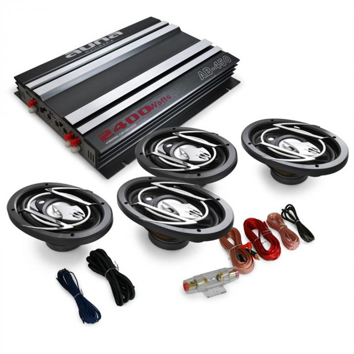 Platin Line 420 4.0 Car Hifi Set Verstärker Box