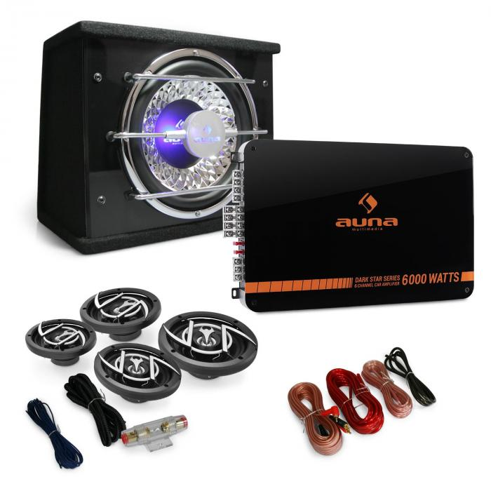 "4.1 Car Hifi Set ""Black Line 540"" Verstärker Boxen"
