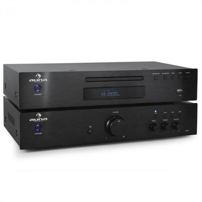 2.0 Hifi-set Auna Elegance Tower CD-spelare 600W