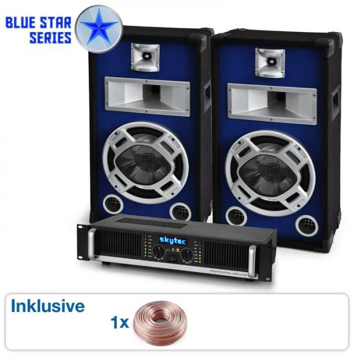 "Blue Star Series ""Beatbass I"" sistema audio 800 Watt"