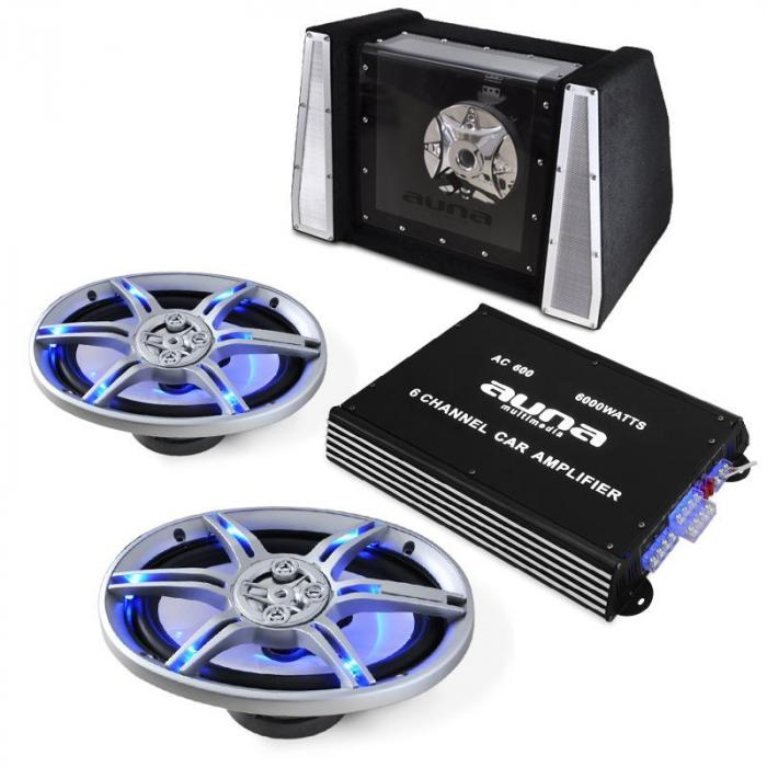 BeatPilot FX-212 Car-Audio-Set 6000W