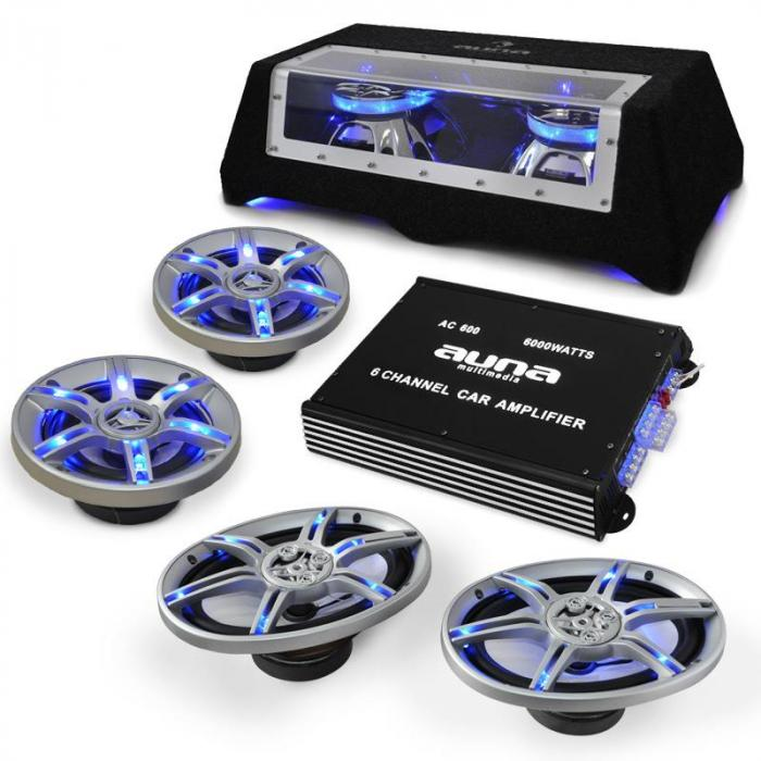 "Car HiFi Speaker Amplifier Set ""BeatPilot FX-412"""