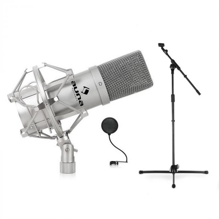 DJ- PA-studio- & lavamikrofonisetti, mic, teline, suoja