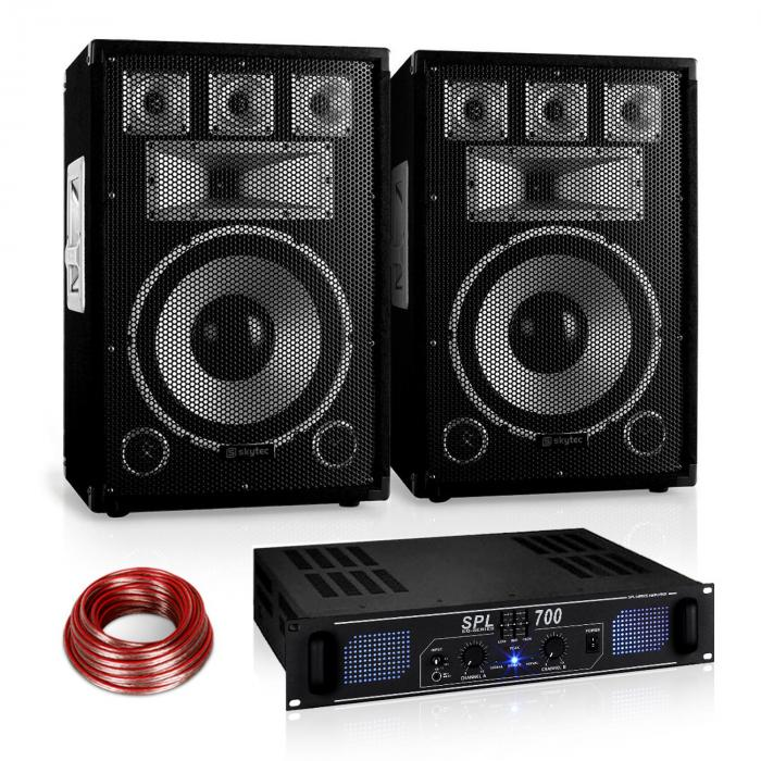 "Set audio Saphir Series ""Warm Up Party"" 12PLUS Ampli 700W"