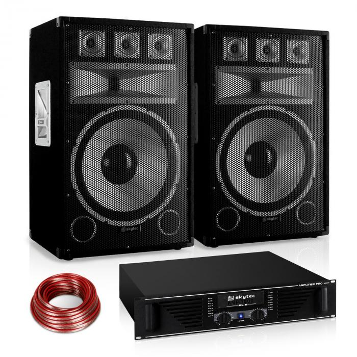 "Set audio Saphir Series ""Warm Up Party"" 15PLUS Ampli 1200W"