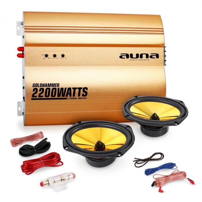 """Golden Race V3"" Set car audio 2.0 2200W"