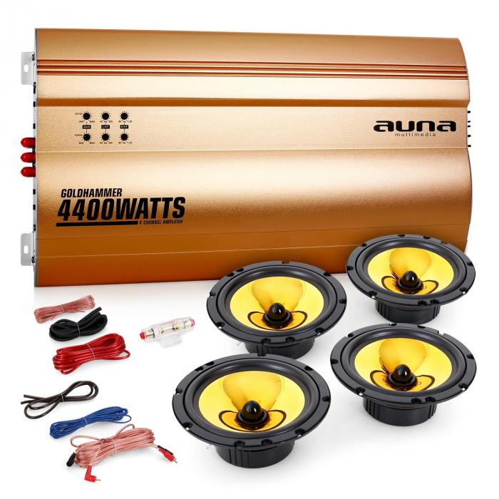"Auna 4.0 Car Hifi Set ""Golden Race V6"""