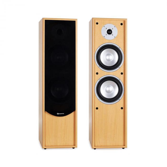 Line 300-BH 2-Way Passive Hi-Fi Tower Speaker Pair 160W RMS Beech