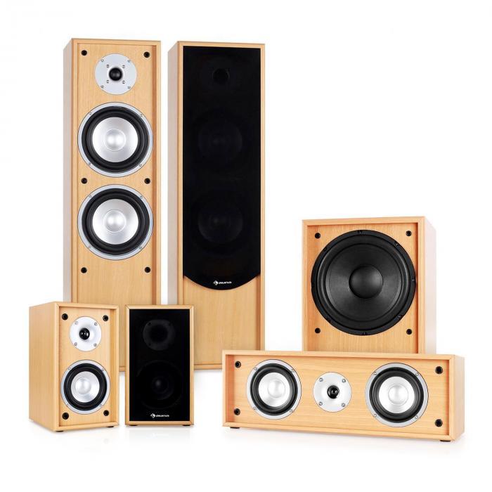 Auna Linie-300-BH System audio 5.1 do kina domowego 515W RMS bukowy