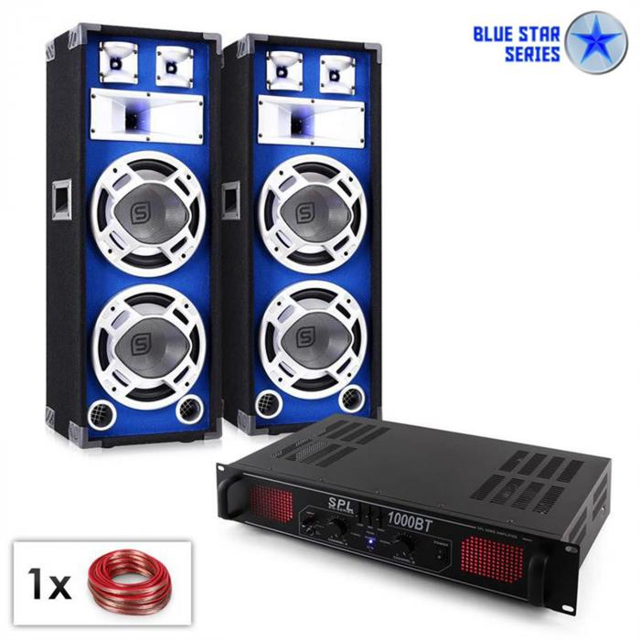 PA Set Blue Star Series 'Basssound Bluetooth' 1000 W