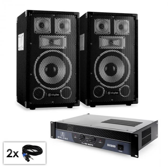 """Set PA """"Warm Up Party TX8"""" Casse 20cm amplificatore 800w"""