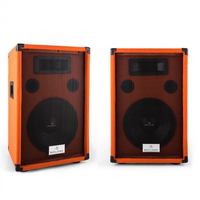 "Beatamine-D Paar PA-Boxen 25cm 10"" 200W RMS 400W max. orange"