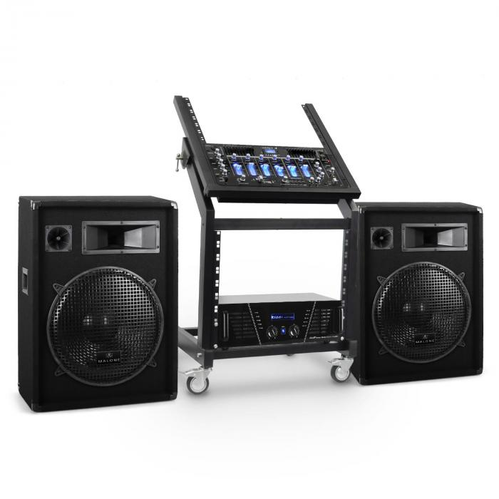 DJ PA Set Anlage Rack Star Series Venus Bounce Bluetooth