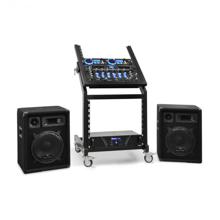 DJ PA Set Rack Star Neptun Palace Bluetooth 250 Personen