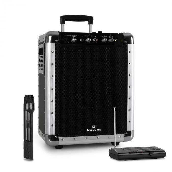 Streetrocker kannettava PA-laite Bluetooth FM-radiomikrofoni musta