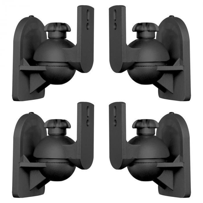 SB-28 högtalarhållare 4-dels-set svart <3,5kg hemmabio HiFi