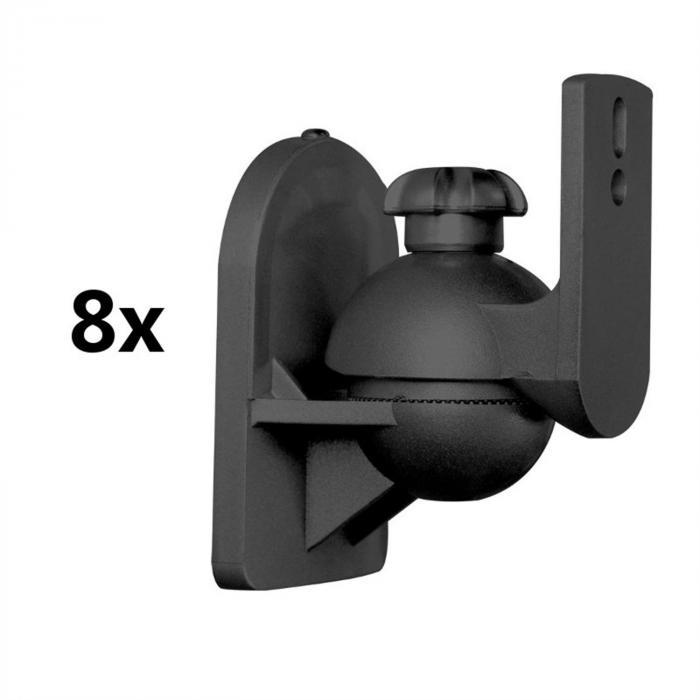 SB-28 Supporto Casse Universale Set 8pz.Nero <3,5kgCinema in casa HiFi