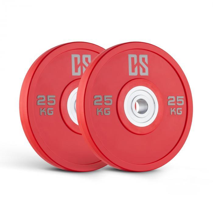 Performan Coppia Dischi Per Sollevamento Pesi 25 kg Rossi