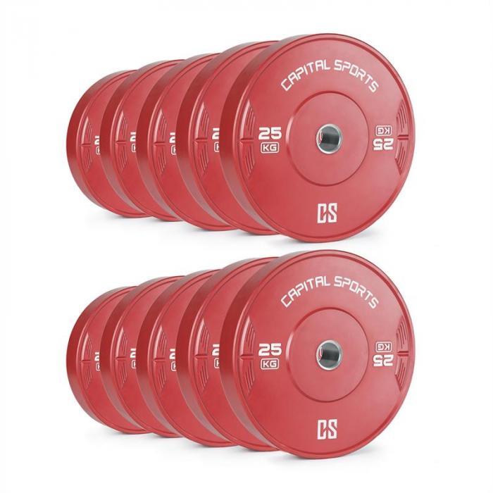 Nipton -levypainot 5 paria 25 kg punainen kovakumi