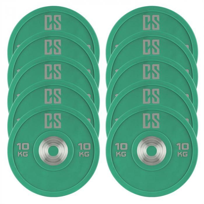 Performan Dischi Per Sollevamento Pesi 10 kg Verdi 10 Pz