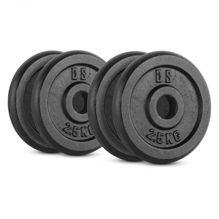 IPB 10 kg Set Gewichtsscheibenset 4 x 2,5 kg 30 mm