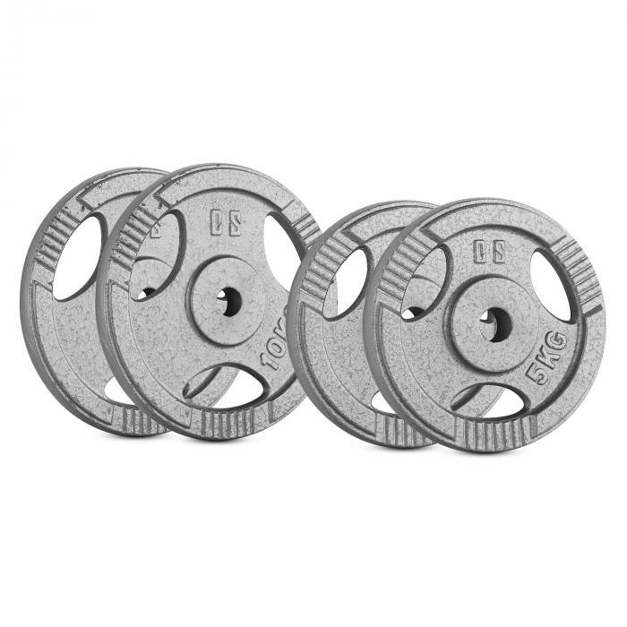 IP3H 30 kg Set Gewichtsscheibenset 4 x 2,5 kg + 2 x 10 kg 30 mm