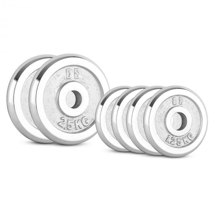 CP 10 kg Set Gewichtsscheibenset 4 x 1,25 kg + 2 x 2,5 kg 30 mm